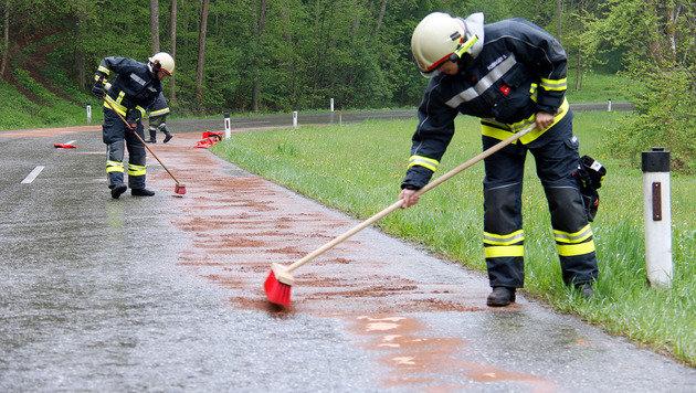 Sechs Freiwillige Feuerwehren und die Straßenmeisterei standen im Großeinsatz. (Bild: APA/PRESSESTELLE BFK UU/MEISINGER)