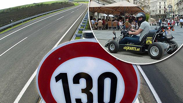 Aufregung um Gokarts auf unseren Autobahnen (Bild: dpa/Martin Schutt, cityKARTS.at)