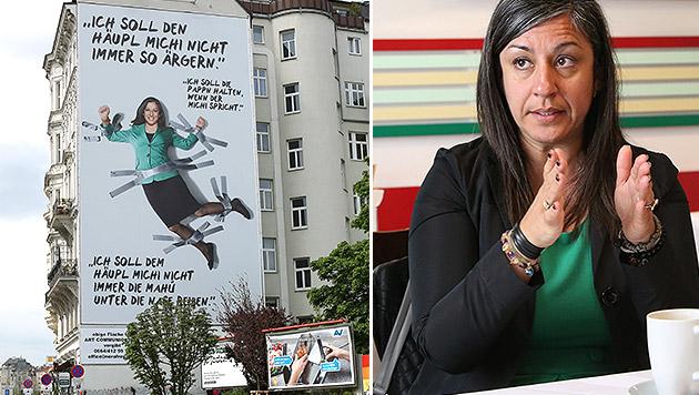 Warum picken Sie an der Wand, Frau Vassilakou? (Bild: Gerhard Bartel, Kristian Bissuti)