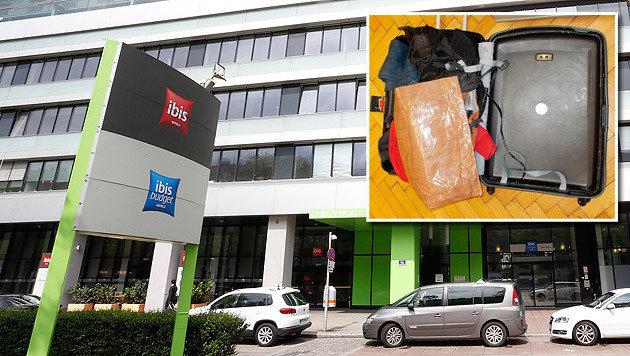 In diesem Hotel wurden die Dealer gefasst. Ein Koffer mit doppeltem Boden diente als Drogenversteck. (Bild: Zwefo, Polizei)