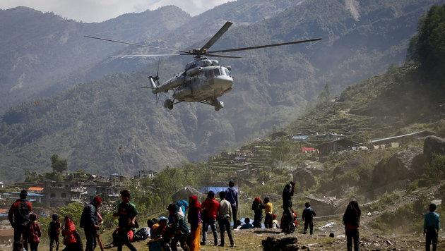 Heimische Alpinisten in letzter Minute gerettet (Bild: APA/EPA/DIEGO AZUBEL)
