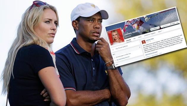 Tiger Woods: Hat er Lindsey Vonn betrogen? (Bild: AP, facebook.com)