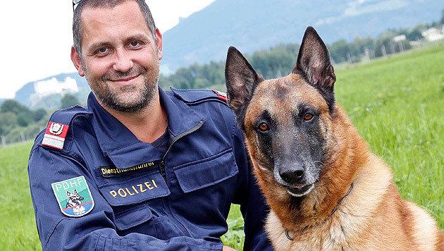 """Ein eingespieltes Team: Gernot Schadner mit """"Capo"""" (Bild: Markus Tschepp)"""