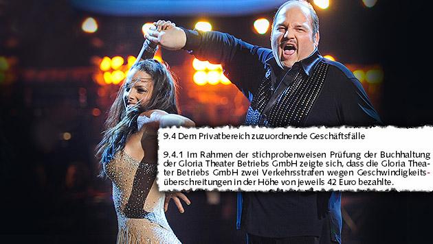 """Gerald Pichowetz als TV-Tänzer; Auszug aus dem Prüfbericht (Bild: ORF/ALI SCHAFLER/picturedesk.com, """"Krone"""")"""