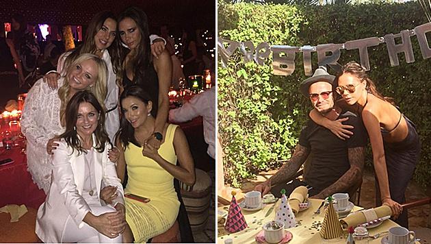 Zum 40. Geburtstag von David Beckham kamen die Spice Girls wieder zusammen. (Bild: Viennareport)