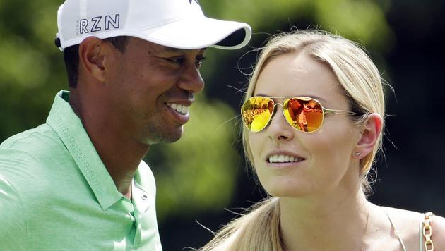 Vonn und Woods: So täuschten sie ihre Fans (Bild: AP/Charlie Riedel)