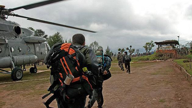 Der Universitätsprofessor und seine Kollegen wurden schließlich ausgeflogen. (Bild: Klaus Katzensteiner)