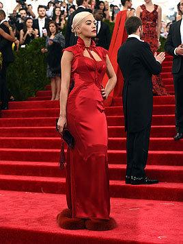 Rita Ora bei der Met Gala in New York (Bild: AFP)