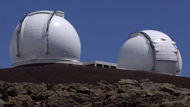 Das Keck-Observatorium am Mauna Kea auf Hawaii (Bild: NASA/JPL/T. Wynne)
