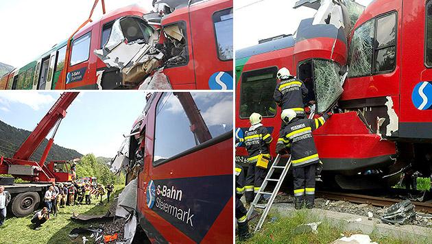 Lokführer (21) fuhr trotz Halt-Signal weiter (Bild: Sepp Pail, APA/Feuerwehr)