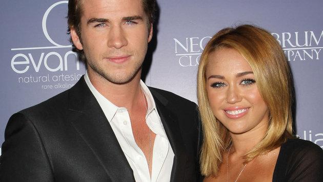 Miley Cyrus mit ihrem Ex-Verlobtern Liam Hemsworth (Bild: Viennareport)