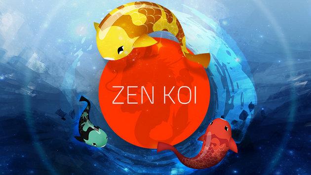 Schräge neue App: Koi-Karpfenzucht am Smartphone (Bild: zenkoigame.com)