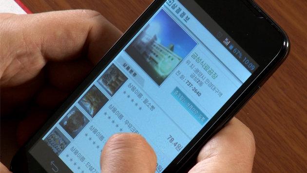 Das Kim-Regime stellt den wenigen Smartphone-Besitzern neuerdings einen Online-Shop zur Verfügung. (Bild: AP)