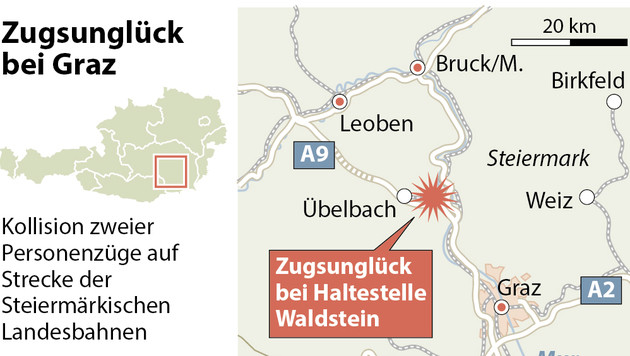 Nahe Übelbach im Bezirk Graz-Umgebung kam es zur folgenschweren Kollision. (Bild: APA)