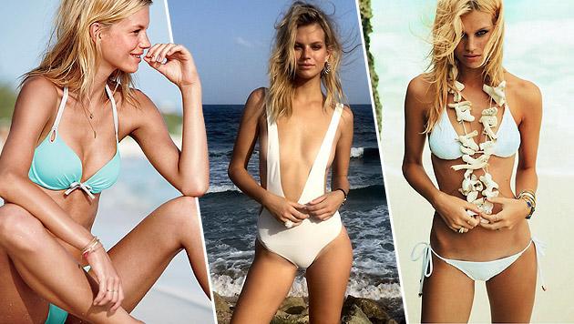 Nadine Leopold in sexy Bikinis (Bild: Viennarport)