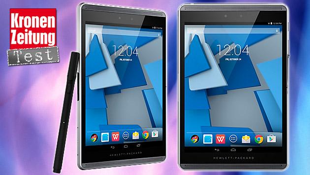 Tablet als digitaler Notizblock: HP Pro Slate 8 (Bild: HP, thinkstockphotos.de, krone.at-Grafik)