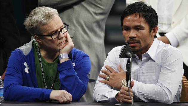 Verletzung verheimlicht: Pacquiao operiert (Bild: AP)