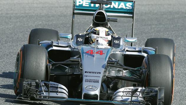 Lewis Hamilton (Bild: APA/EPA/ANDREU DALMAU)