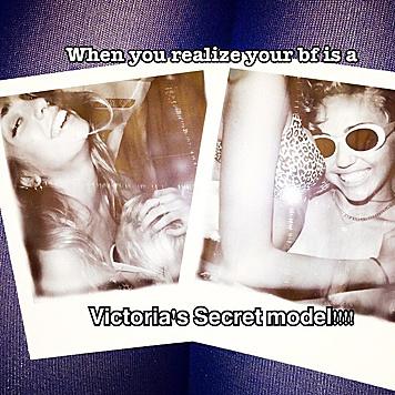 'Der Moment, in dem du erkennst, dass deine beste Freundin ein Victoria's-Secret-Model ist!' (Bild: Viennareport)