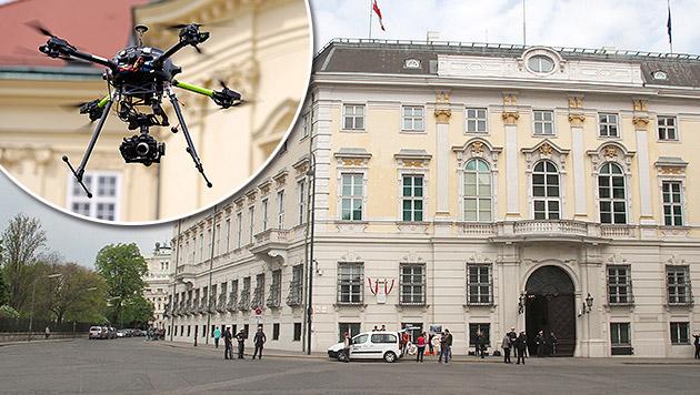 Drohne über Bundeskanzleramt in Wien gesichtet (Bild: ANDI SCHIEL, Klemens Groh)