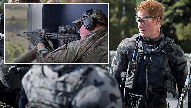 Furchtloser Prinz Harry bei Anti-Terror-Übung (Bild: APA/EPA/WO2 NEIL RUSKIN / AUSTRALIAN DEFENCE)