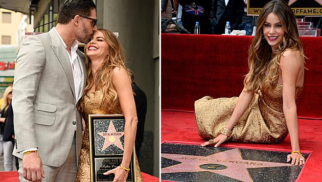"Sofia Vergara hat jetzt auch einen Stern am ""Walk of Fame"". (Bild: Chris Pizzello/Invision/AP, APA/EPA/PAUL BUCK)"