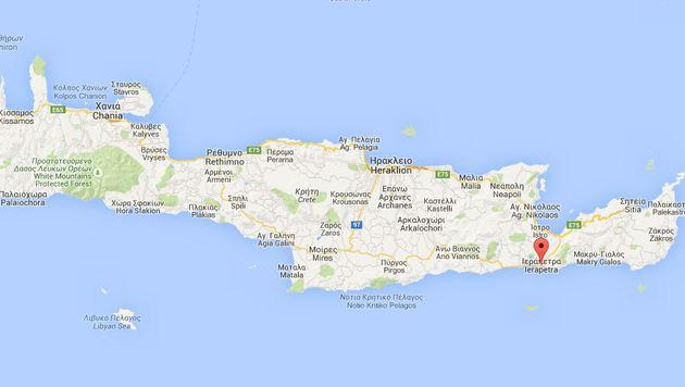 Nahe der Ferienstadt Ierapetra im Süden Kretas kam es zu dem Unglück. (Bild: Screenshot Google Maps)