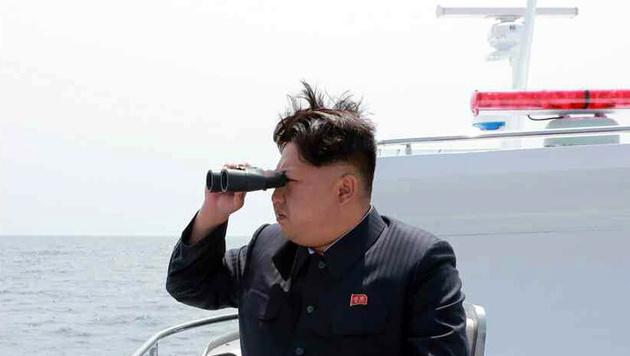 Nordkorea feuerte erneut Raketen aufs offene Meer (Bild: APA/EPA/KCNA)