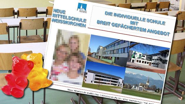 Steirische Lehrerin soll Schüler verführt haben (Bild: CHRISTIAN JAUSCHOWETZ, Screenshot NMS Weißkirchen)