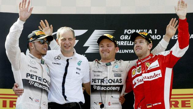 Rosberg holt ersten Saisonsieg! VW bald in der F1? (Bild: APA/EPA/ANDREU DALMAU)