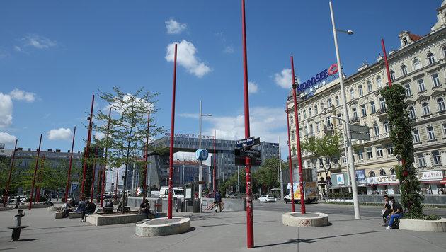 Der umstrittene Brodaplatz beim Westbahnhof (Bild: Peter Tomschi)