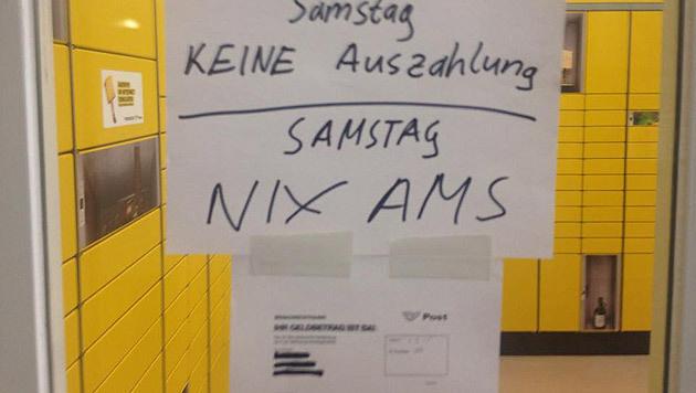 Aushang in Wiener Postfiliale sorgt für Wirbel (Bild: facebook.com/unserepost)