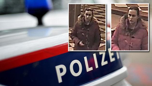 Die Polizei hat zwei Bilder der mutmaßlichen Täterin veröffentlicht und bittet um Hinweise. (Bild: APA/BARBARA GINDL (Symbolbild), Polizei)