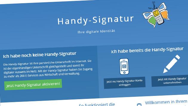Regierung setzt jetzt auf Handysignatur (Bild: handy-signatur.at)