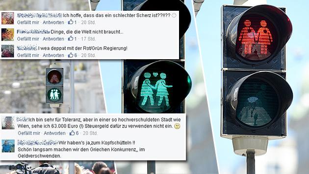 """Bei den meisten """"Krone""""-Lesern kommt die Aktion nicht wirklich gut an. (Bild: APA/ROLAND SCHLAGER, facebook.com)"""