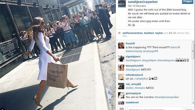 """Sarah Jessica Parker macht ihren Fans Hoffnung auf einen dritten """"Sex and the City""""-Film. (Bild: instagram.com)"""