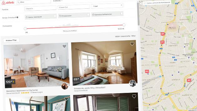 Stadt Wien rüstet sich gegen Uber, Airbnb und Co. (Bild: airbnb.at)