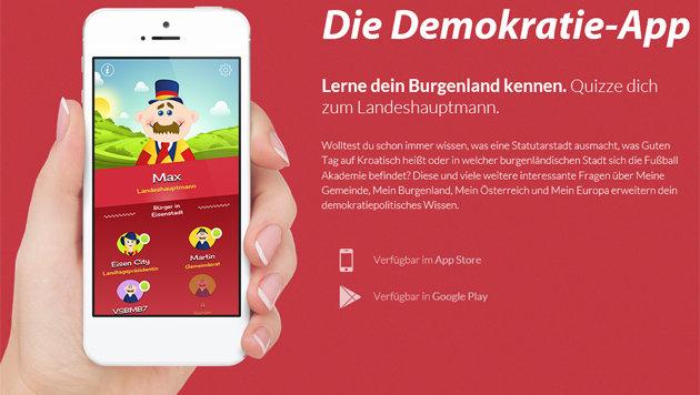 """Demokratie-App"": Per Quiz zum Landeshauptmann (Bild: demokratieapp.at)"