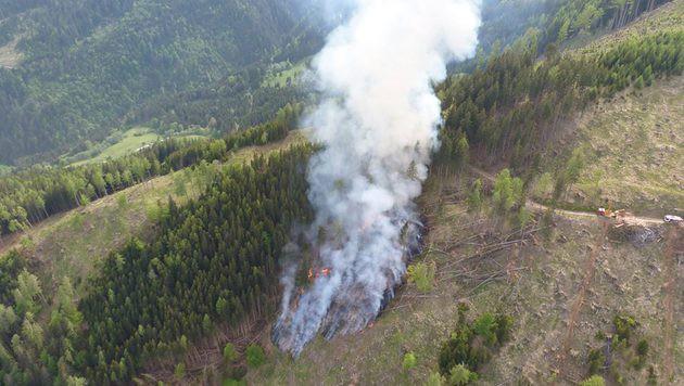 Kampf gegen Waldbrände in Kärnten geht weiter (Bild: facebook.com/RK1 Fanclub)