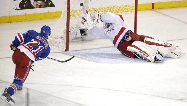 Das entscheidende Tor zum Glück der Rangers! (Bild: AP)