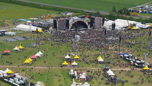 Luftaufnahme vor dem Konzert (Bild: APA/LPD/JOSEFUS)
