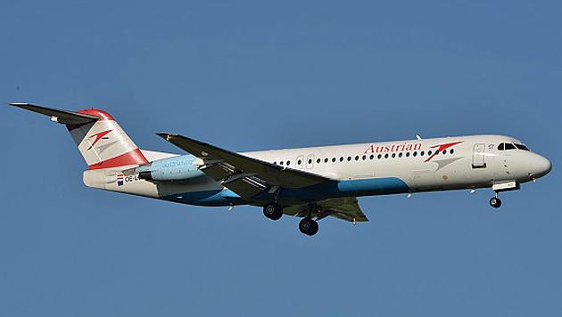 Die Fokker 70 und die Fokker 100 (Bild) verlassen die Flotte ab Jahresende. (Bild: Patrick Huber)