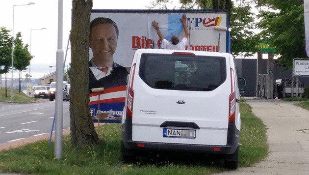 """FPÖ-Slogan vom """"Heimvorteil"""" als Wahlkampf-Schmäh (Bild: """"Krone""""-Leserreporter)"""