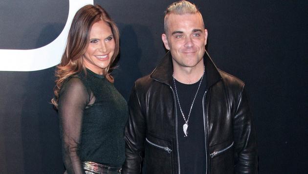 Ayda Field und Robbie Williams (Bild: APA/EPA/NINA PROMMER)