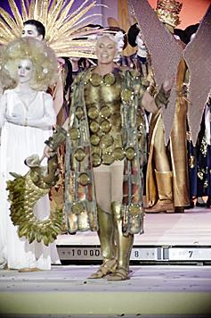 Brigitte Nielsen als Klimt-Figur (Bild: Klemens Groh)