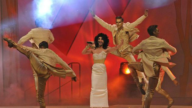 Conchita Wurst bei der Life-Ball-Eröffnung 2015 (Bild: APA/HANS PUNZ)
