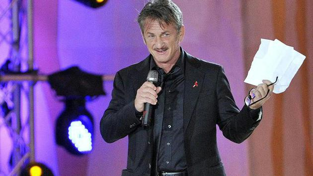 Sean Penn bei der Life-Ball-Eröffnung (Bild: APA/HANS PUNZ)