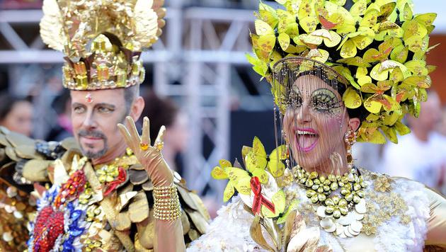 Der Kreativität bei dem Kostümen ist grenzenlos. (Bild: APA/HERBERT NEUBAUER)