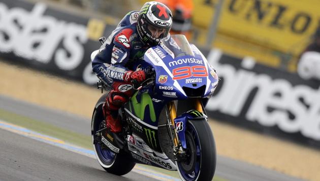 Lorenzo vor Rossi: Yamaha-Doppelsieg in Le Mans (Bild: APA/EPA/EDDY LEMAISTRE)