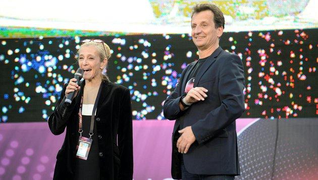 ORF-Fernsehdirektorin Kathrin Zechner und Christian Oxonitsch (Bild: APA/ROLAND SCHLAGER)